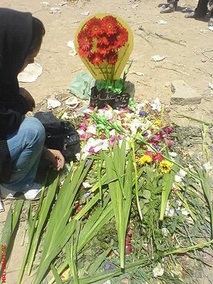 Grave site of Neda Agha-Soltan, shot by Baseej...