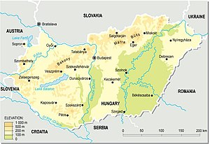 An enlargeable topographic map of Hungary