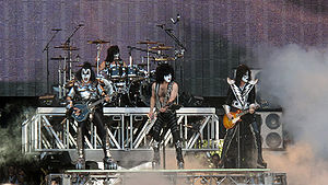 English: KISS playing at Sauna Open Air 2010, ...
