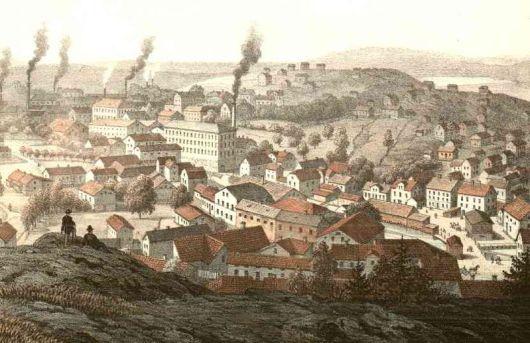 Mölndals Kvarnby år 1870
