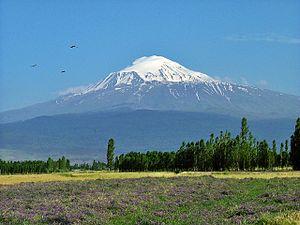 View of Ararat from Iğdır, Turkey.