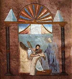 The earliest surviving evangelist portrait, in...