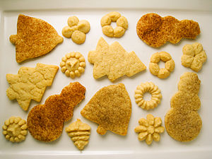 Various vegan sugar cookies.