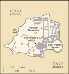 Mapa do Estado da Cidade do Vaticano
