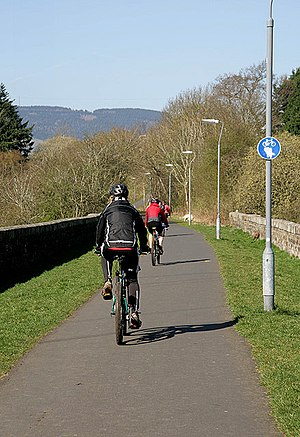 English: A cycle route on the Black Path This ...