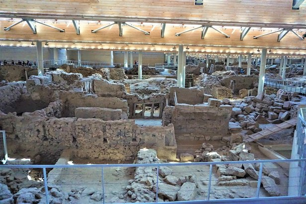Akrotiri Archaeological Site in Santorini - Thera