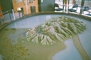 Model of Banks Peninsula, Canterbury, New Zeal...