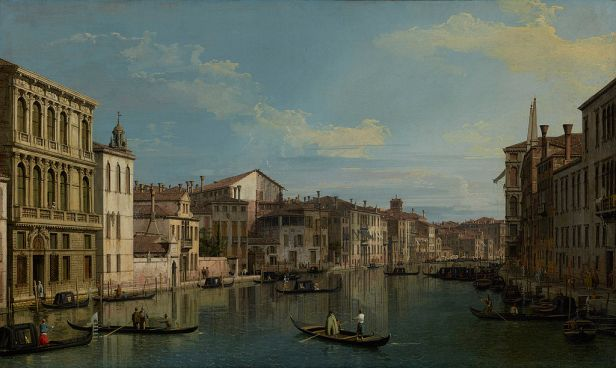 Canaletto Grand Canal from Palazzo Flangini - JPGM