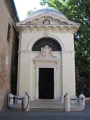Dante's death tomb in Ravenna.