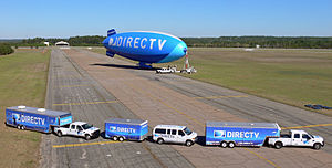 English: Photo of the DIRECTV blimp operation....