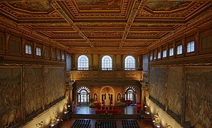 Salone dei Cinquecento in Palazzo Vecchio in F...