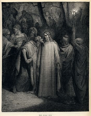 "English: ""The Judas Kiss"", (Mark 14:..."
