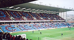 The James Hargreaves Stand at Turf Moor, home ...
