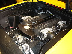 Motor V12 6.500 cc del Murciélago LP640.