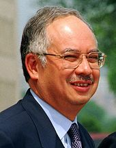 Najib, pictured in May 2002.