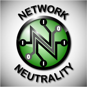Symbol of Network Neutrality as poster for pro...