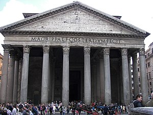 Front of the Pantheon in Rome.