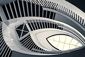 Stairwell at The Museum of Contemporary Art in...