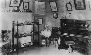 Living room in a Bowen residence, ca. 1905