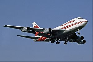 Trans World Airlines TWA Boeing 747SP at Heathrow
