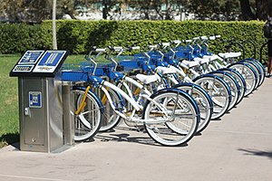 English: Zotwheels Bike Share at the Universit...