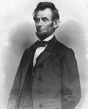 English: Abraham Lincoln, president of the Uni...