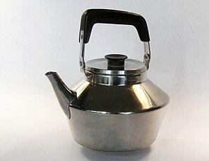 Rostfri vattenkittel för Modernum, 1954