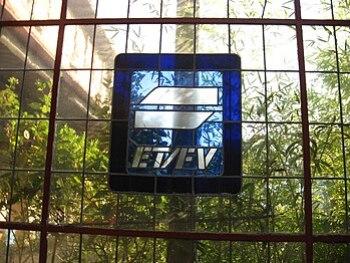 Glassplate in Euskotren station Atxuri