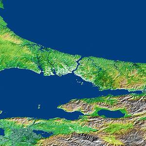 Bosporus Strait and Istanbul, Turkey
