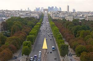 Perspective des Champs-Elysées, de la place de...