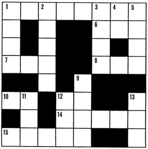 English: Line art drawing of a crossword puzzle.