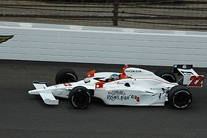 Davey Hamilton practicing for the 2008 Indiana...