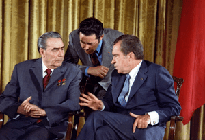 Richard Nixon meets Leonid Brezhnev June 19, 1...