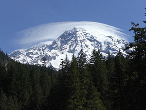 This is Mount Rainier Viewed from Longmire