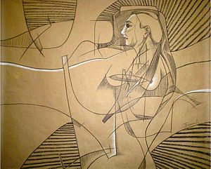 Español: Boceto del Mural efímero Anorexia y T...