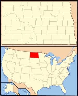 Locator Map of North Dakota, United States