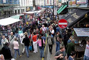 Portobello Road Market, June 2005.