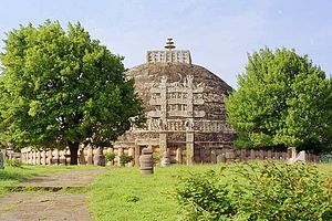 The Sanchi stupa in Sanchi, Madhya Pradesh bui...