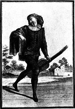 17th-Century Engraving of Scaramuccia