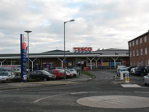 English: Tesco Supermarket Thirsk By far the l...