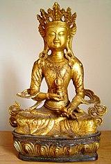 Tượng Kim Cương Tát-đoá (sa. vajrasattva) mạ vàng, Tây Tạng