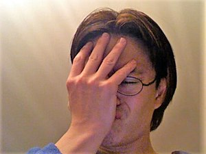 Facepalm photo.