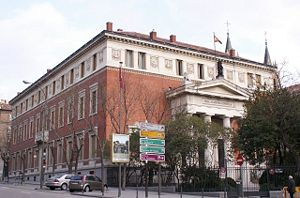 English: Real Academia Española's headquarters...