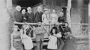 Alexander Graham Bell with his family and frie...