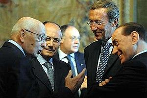 Italiano: Il Presidente Giorgio Napolitano con...