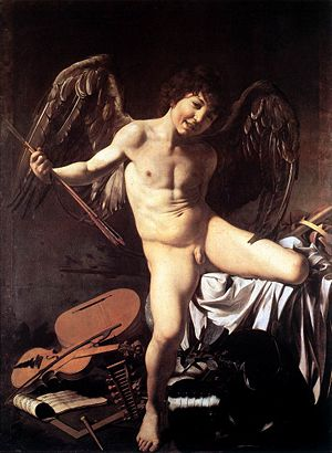 Caravaggio's Amor Victorious with the Roman Cu...