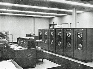 Photo of NCR 304 computer system.