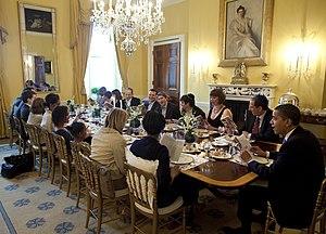President Obama hosts a traditional Seder dinn...