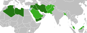 English: This is a map of countries (in green)...