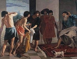 Joseph's coat, by Diego Velázquez (1630), depi...